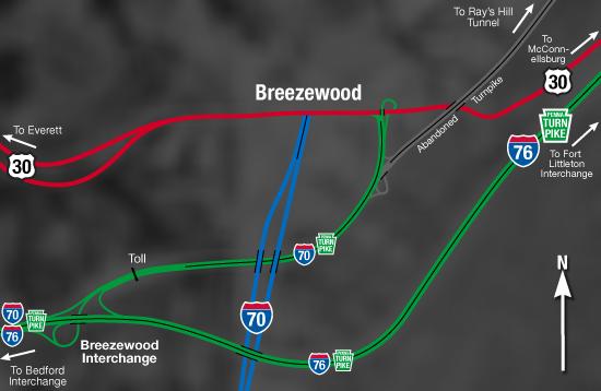 Breezewood Interchange Area After