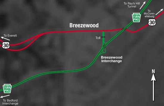 Breezewood Interchange Before