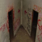 Doors to tunnel ventilation chamber.