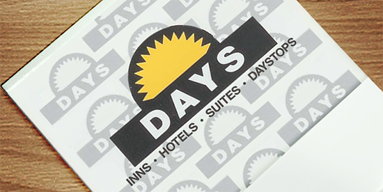 Inns - Hotels - Suites - Daystops matchbook from about 1990
